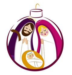 baby jesus in a manger 12 vector image