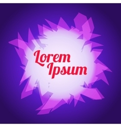 Background Geometric Purple Pink and Text vector image