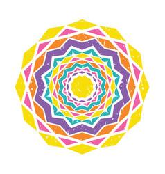 colorful mandala design vector image vector image