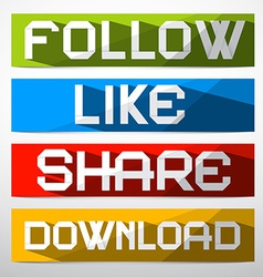 Follow - Like - Share - Download Paper vector image