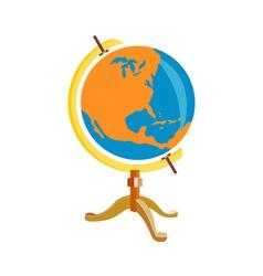 Globe America Retro vector image vector image