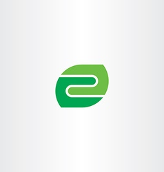 letter z green leaf icon logo symbol vector image vector image