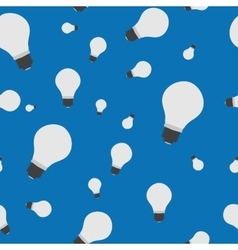 Seamless - bulb lamp on blue vector image vector image