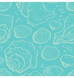 Seashell seamless vector image vector image
