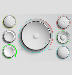 set of buttons volume control vector image