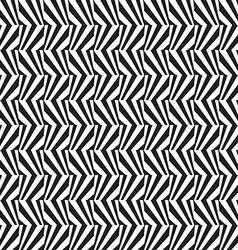 Abstract black and white textured geometric vector image vector image