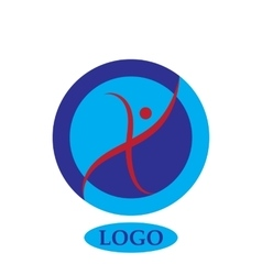 Health character - logo template concept vector image
