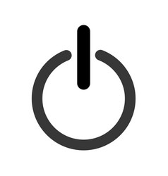 power on and off button vector image