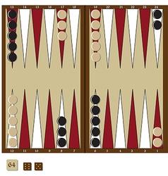 Backgammon game vector image