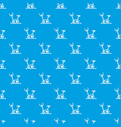 exercise bike pattern seamless blue vector image vector image