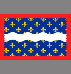 flag of cher in centre-val de loire france vector image vector image