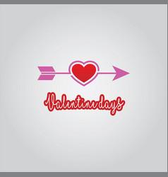 Love arrow valentine days vector