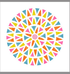 mandala design in mexican ethnic style vector image vector image
