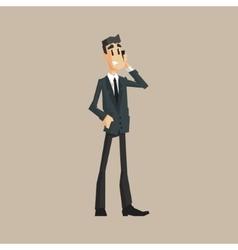 Office Worker Speaking Mobile vector image vector image