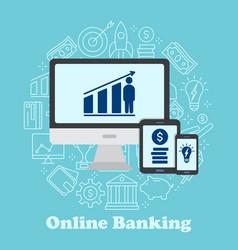 sending and receiving money vector image vector image