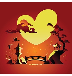 Valentines Day Background with Abstract Background vector image vector image
