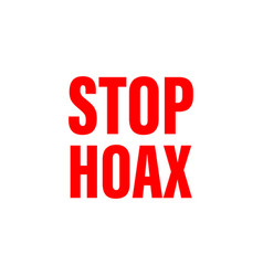 A logotype or typography about hoax vector