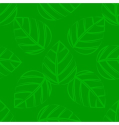 A seamless green leafs tile vector image