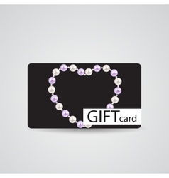Abstract Beautiful Gift Card Design vector image