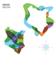 Abstract color map of kenya vector
