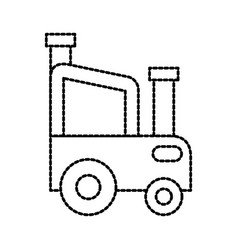 Agricultural tractor car vehicle farm transport vector