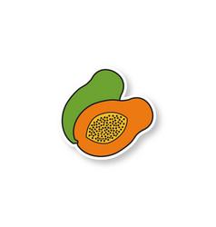 Avocado patch vector