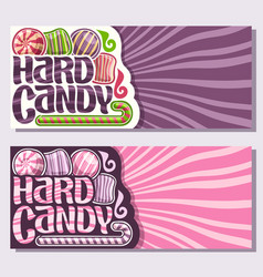 Banners for hard candy vector