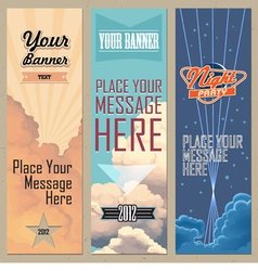 banners vertical vector image