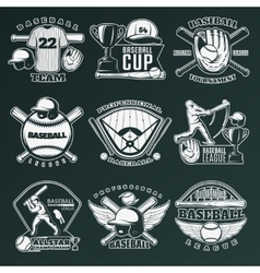 Baseball Monochrome Emblems vector