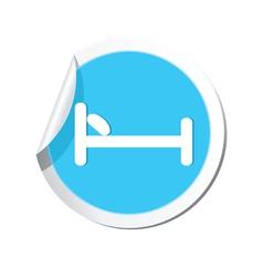 Bed BLUE LABEL vector
