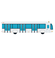 bus to ferry passengers to aircraft flat vector image