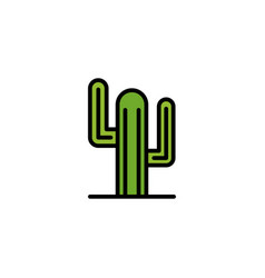 cactus flat icon sign symbol vector image