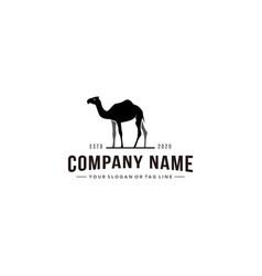 Camel design logo vintage style vector