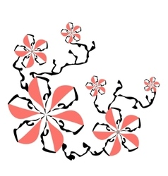 Cartoon flowers vector image