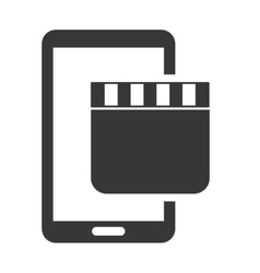 cinema online with smartphone vector image