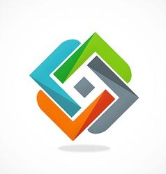 Circle geometry construction color logo vector
