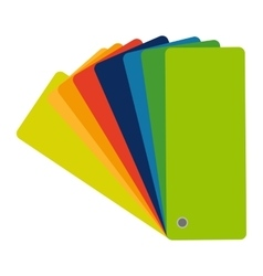 Color swatch guide colorful icon flat vector