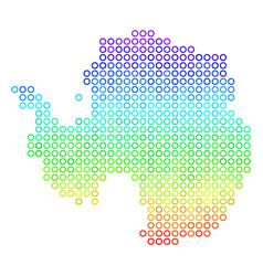 Colored antarctica map vector