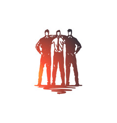 Command team friends work business concept vector