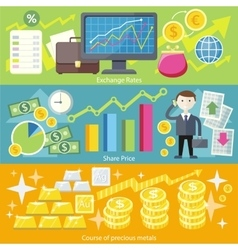 Concept Exchange Rates Flat Design Style vector image