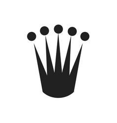 concept of king crown icon on vector image