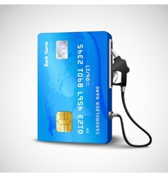 Credit Card Gas Station vector