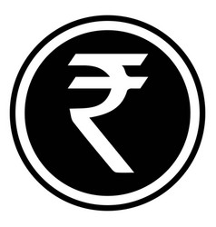 currency symbol india indian rupee inr vector image