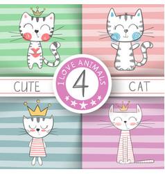 Cute little princess - cat characters vector