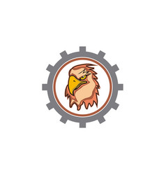 eagle head tech logo vector image