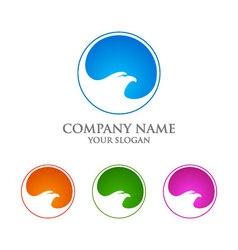 Eagle logo template falcon hawk logo design vector