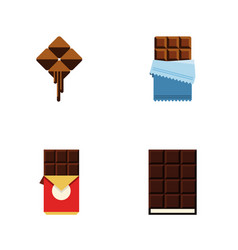 flat icon sweet set of chocolate bar bitter vector image