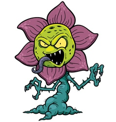 Flower monster vector