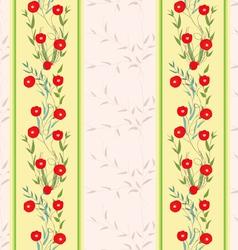Flower red striped wallpaper vector