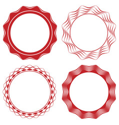 geometric circular ornaments set vector image